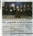 Newspaper clipping, Biker gang probe comes to fruition, Las Vegas Review-Journal, June 28, 2013
