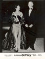 Katherine Dunham and John Pratt arriving at a gala