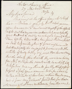 Letter from Anne Knight, Anti-slavery office, 27 New Broad Street, [London?, England], to Maria Weston Chapman, 30/10 [18]39