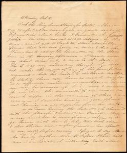 Journal entry by Caroline Weston, Monday, Feb 12, [1844?]