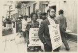 Frances Hooks protests apartheid