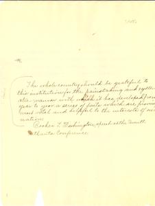 Booker T. Washington speech at the Seventh Atlanta Conference