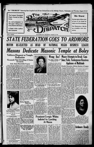 The Black Dispatch (Oklahoma City, Okla.), Vol. 7, No. 38, Ed. 1 Thursday, August 24, 1922