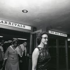 Ella Fitzgerald leaving the arrival gate