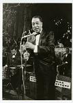 [Duke Ellington at microphone, West Germany : black-and-white photoprint.]