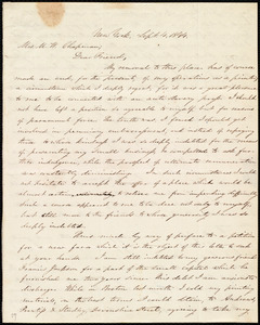 Letter from Oliver Johnson, New York, to Maria Weston Chapman, Sept. 4, 1844