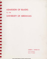 Admission of Blacks to the University of Arkansas