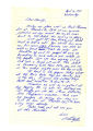 Letter describing road clearance operation and news from the U.S.