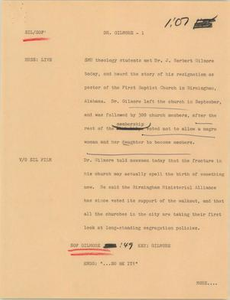 News Script: Dr. Gilmore NBC News Scripts