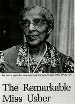 Ms. Bazoline Usher, civil rights pioneer, first African-American supervisor of the Atlanta Negro schools, Atlanta, Georgia, 1991?