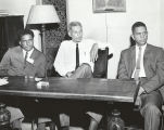 Bill Berry, James Forman, and the Reverend Arthur M. Brazier