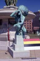 "James Luna ""Sacred Colors"" installation, Corning Fountain, Bushnell Park, Hartford, 1994"