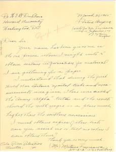 Letter from Mutsuo Fujisawa to W. E. B. Du Bois