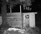 Cinder block shed used by Ku Klux Klan members in Jefferson County, Alabama.