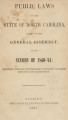 Public laws of the State of North-Carolina, passed by the General Assembly [1860-1861] Public laws of North Carolina