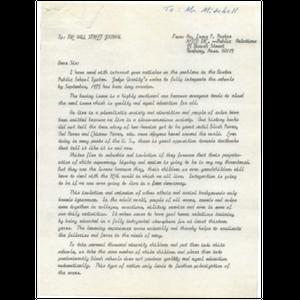 Letter, Wall Street Journal