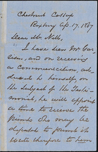 Letter from George Thompson, Roxbury, [Massachusetts], to William Cooper Nell, 1867 Ap[ril] 17
