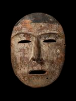 Physical object: Carved and painted ceremonial mask, Iñupiat (Native Alaskan Tribe)