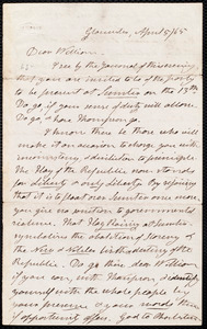 Letter from Henry Clarke Wright, Gloucester [Mass.], to William Lloyd Garrison, April 5 / [18]65