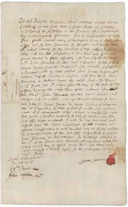 Deed from Isaac Powers to John Hancock for Jack (a slave), 22 April 1728