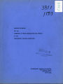 Resource Materials for the Committee on Future Organization and Program-April 1954