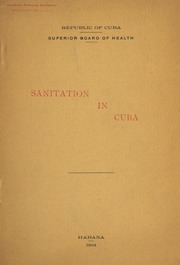 Sanitation in Cuba