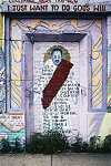 """MLK Jr. mural, """"I Have a Dream"""" by T. Murdock, painted 1995, Oakwood, South Side Chicago, 2008"""
