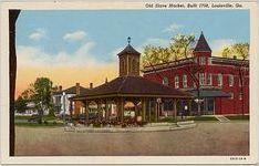 Old Slave Market, Built 1758, Louisville, Ga.