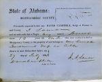 Montgomery County, Alabama Slave Holder Affidavits: July 27, 1861b