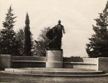 Booker T. Washington monument on the campus of Tuskegee Institute in Tuskegee, Alabama.