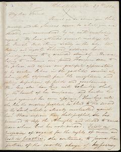Letter from Henry Grew, Philadelphia, [Pa.], to William Lloyd Garrison, Nov. 29th, 1834