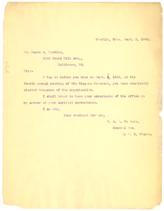 Letter from W. E. B. Du Bois to Mason A. Hawkins
