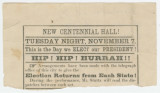 Broadsides advertising events at local theaters, possibly in Tuscaloosa, Alabama.