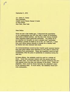 Letter from Mark H. McCormack to Dakin B. Ferris