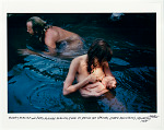 Barry McGuire and Patty McGuire nursing Ever at Spence Hot Springs, Jemez Mountains, NM. 1967
