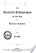 Die socialen Bewegungen im alten Rom und der cäsarismus