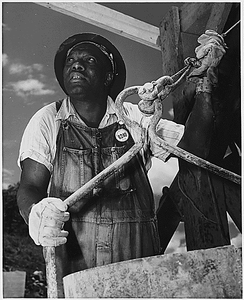 """""""Negro bucket man at the Tennessee Valley Authority Douglas Dam on the French Broad River"""