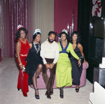 Gordy family group portrait at a party, Los Angeles, 1971