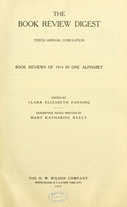 Book review digest, 1914 v.10