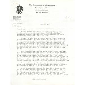 Letter, June 30, 1973.