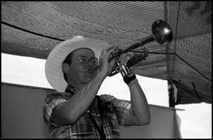 Bill Smallwood Playing the Trumpet 19th Annual Texas Folklife Festival