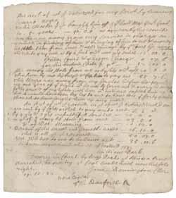 Account of William Park's expenses relating to Sylvanus Warro, 15 November 1682
