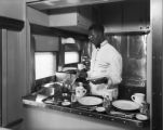 D&RGW kitchen galley for 4-36 seat diners built May 1927 by American Car & Foundry Co.