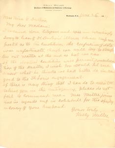 Letter from Kelly Miller to Nina G. Du Bois