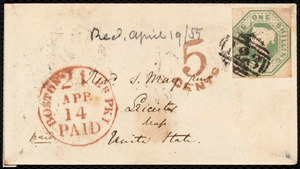Letter from S. Alfred Steinthal, Bridgewater, [England], to Samuel May, March 28th, 1855