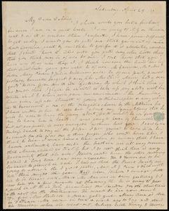 Letter from Anne Warren Weston to Deborah Weston, Saturday, April 29 / [18]37