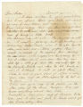 Two letters to Bolling Hall, one from his oldest son, Bolling, and the other from his wife, Mary Louisa.