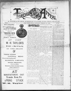 Torchlight Appeal. (Fort Worth, Tex.), Vol. 3, No. 32, Ed. 1 Saturday, February 22, 1890 The Torchlight Appeal