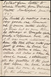 Extract from a letter to Lucia Weston [manuscript]