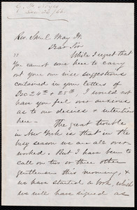 Letter from G. F. Noyes, New York [N.Y.], to Samuel May, Jr., Dec[ember] 26 / [18]66